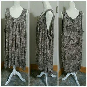 ❤️SALE❤️Ulla Popken brown/white print sundress. 6X